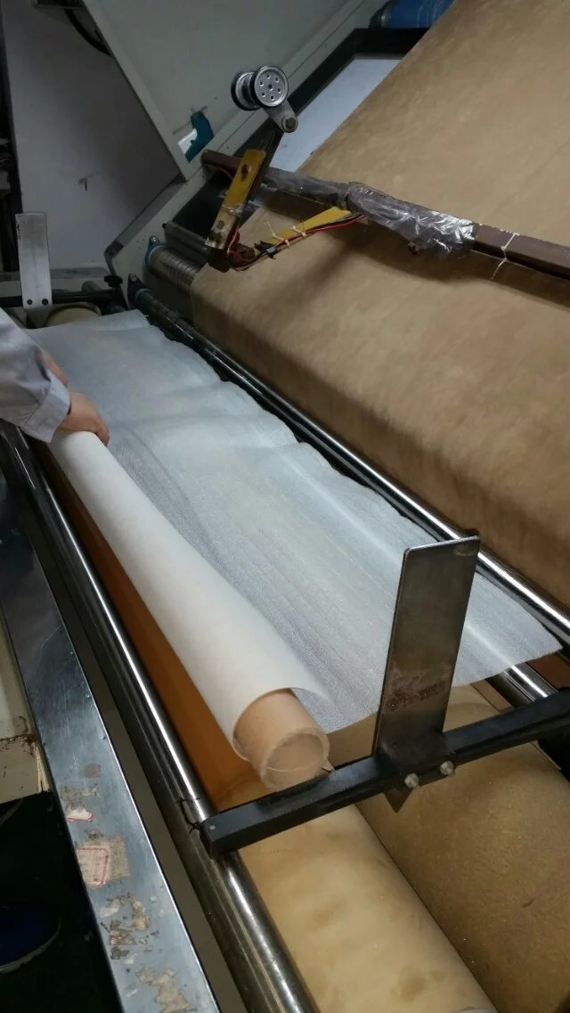protecting fabric when rolling