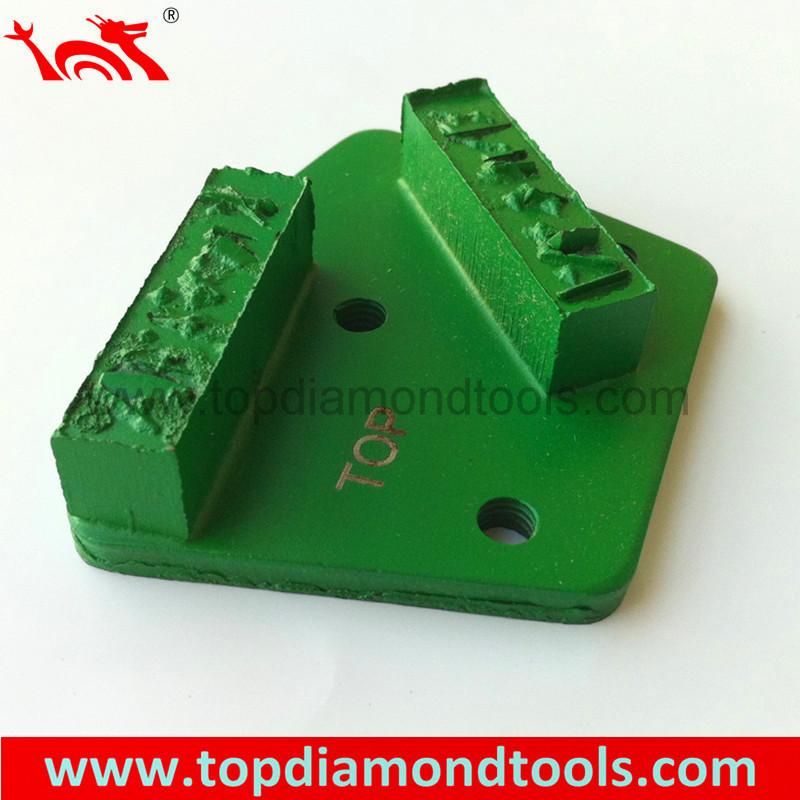 PCD Diamond Grinding Shoe with 2 Rectangle Segments