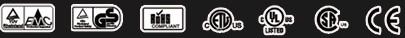 CE/ROHS/GS/EMC/UL/CSA