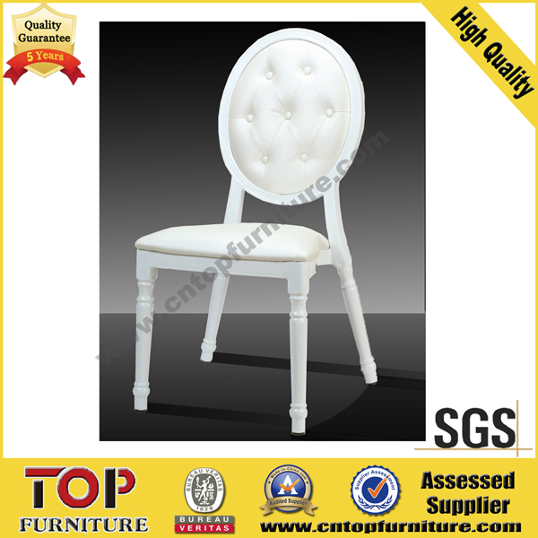 Leather round back hotel stackable classy banquet chair