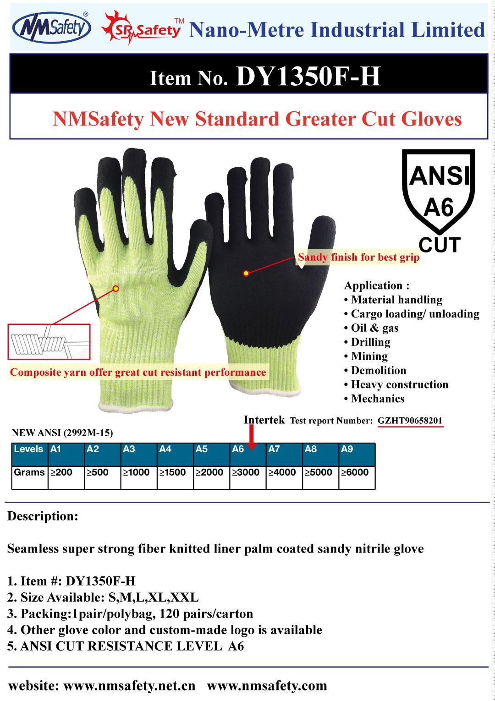 ANSI 6 cut resistant glove
