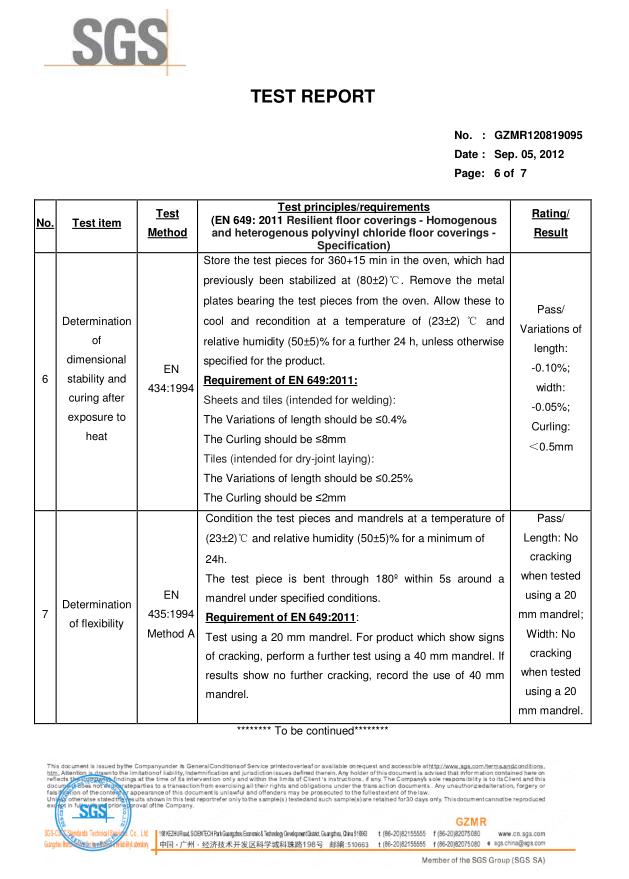 TEST REPORT SGS