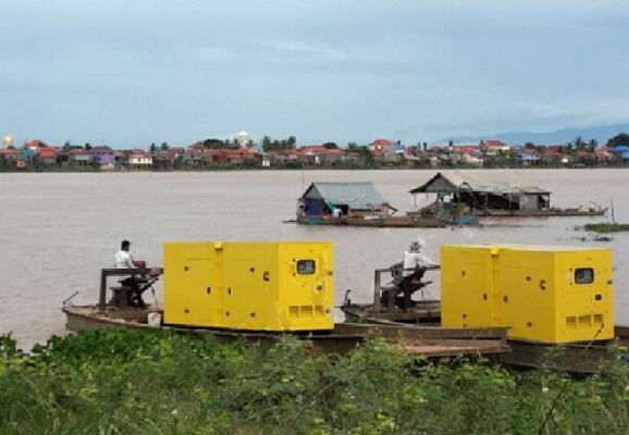 Huihe Genset Applied at the River Bank in Southeast Asia