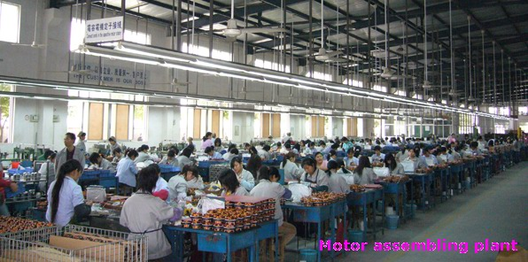 motor assembling plant of high velocity fan department