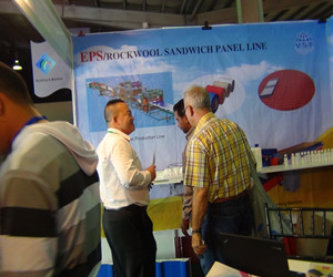 Customers are interesting in our Eps/Rock wool sandwich panel production line