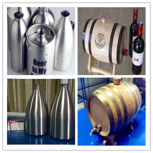 Varies stainless steel beer kegs/growlers