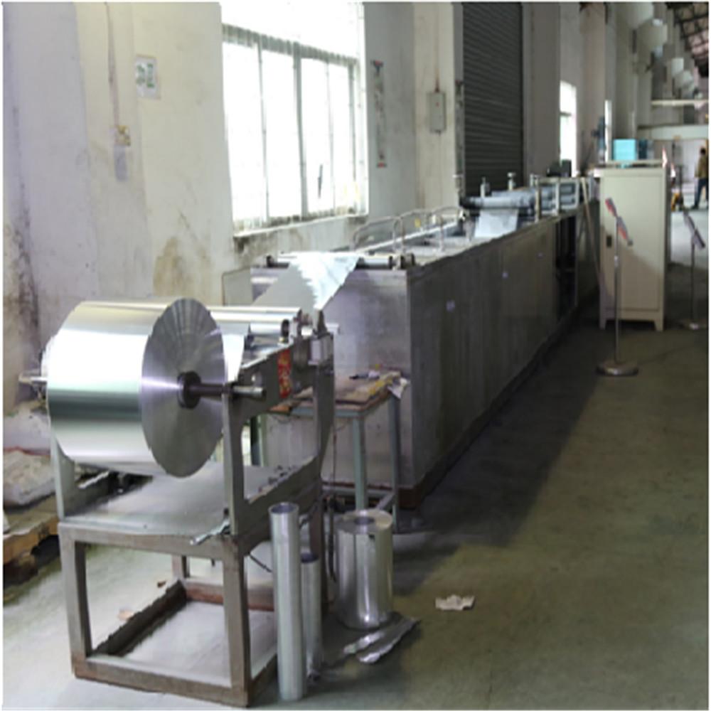 Cleaning machine of aluminum foil