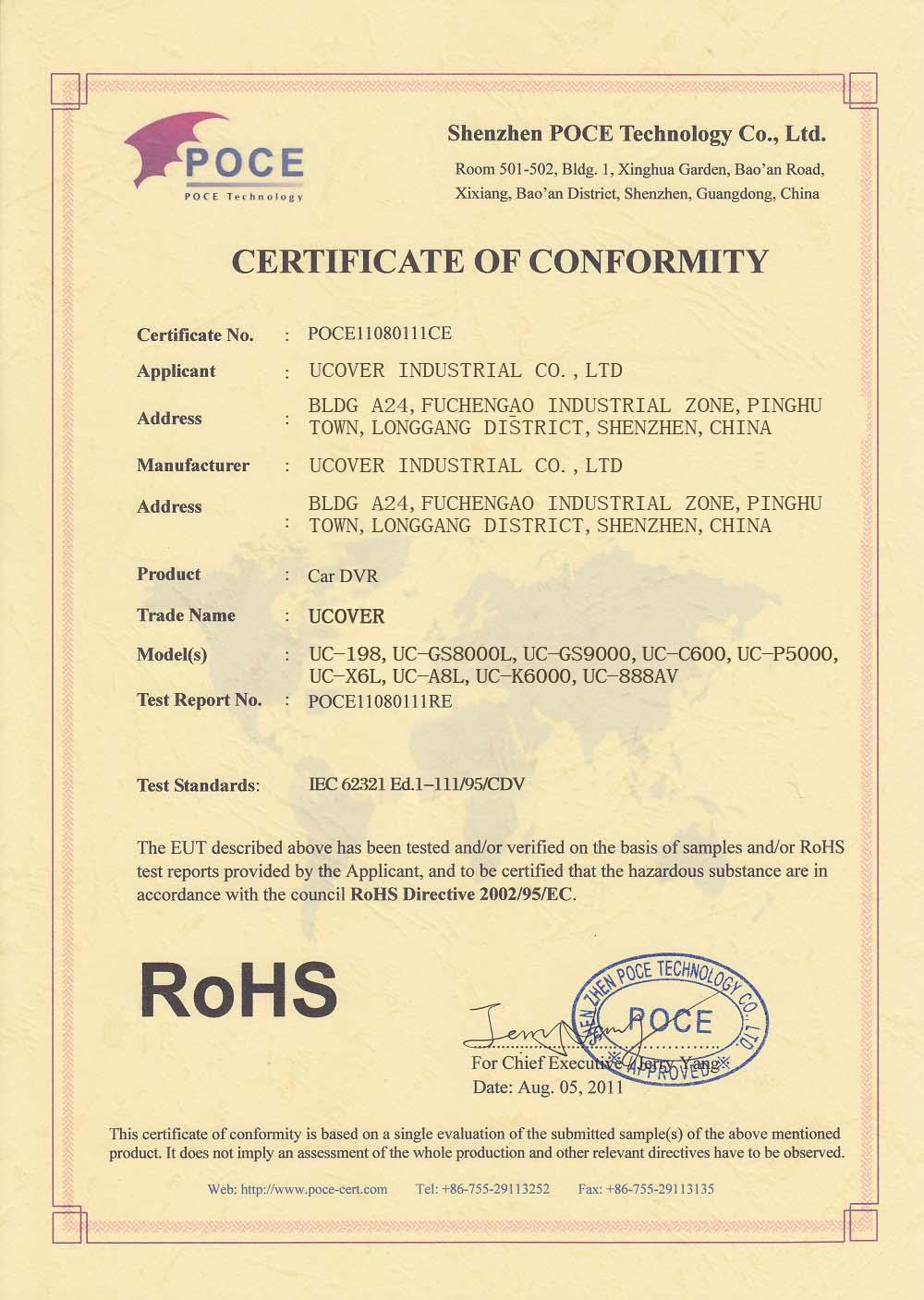 RHOS CERTIFICATION