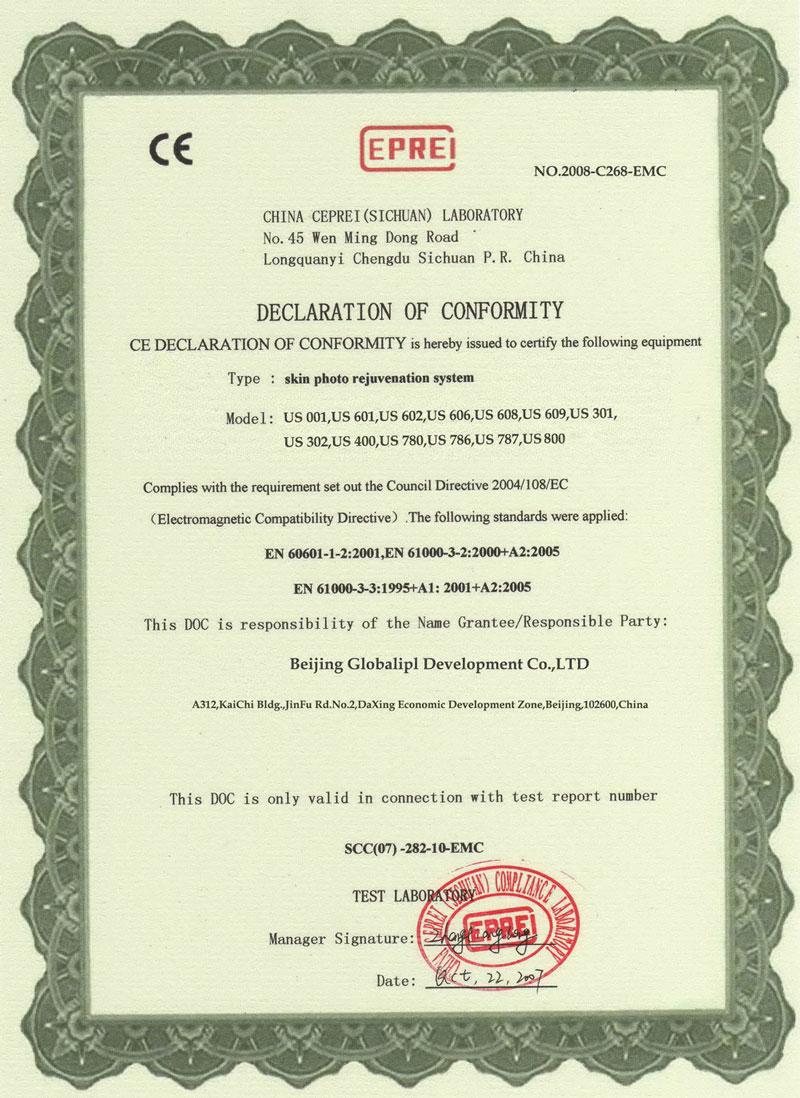 CE Certificate-EMC