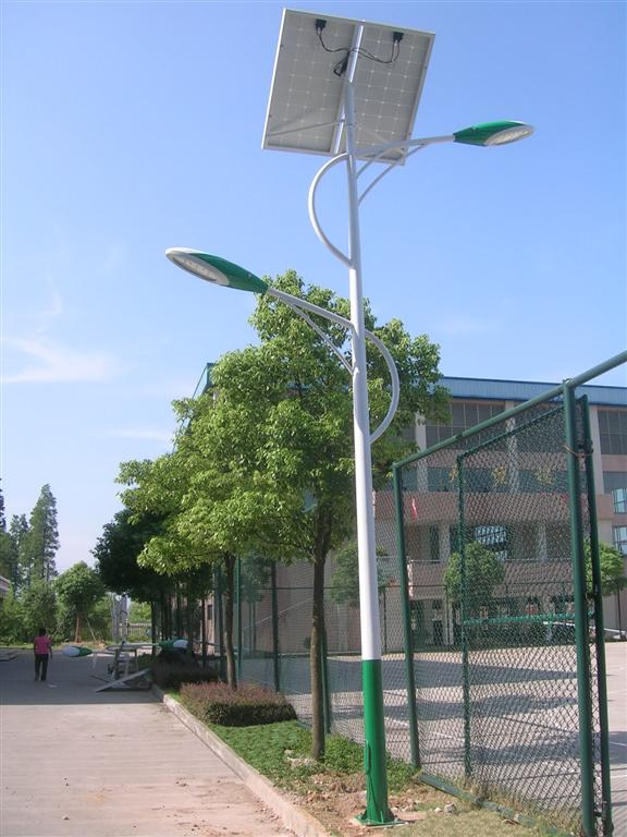 solar street light in Jinhua Middle School, China