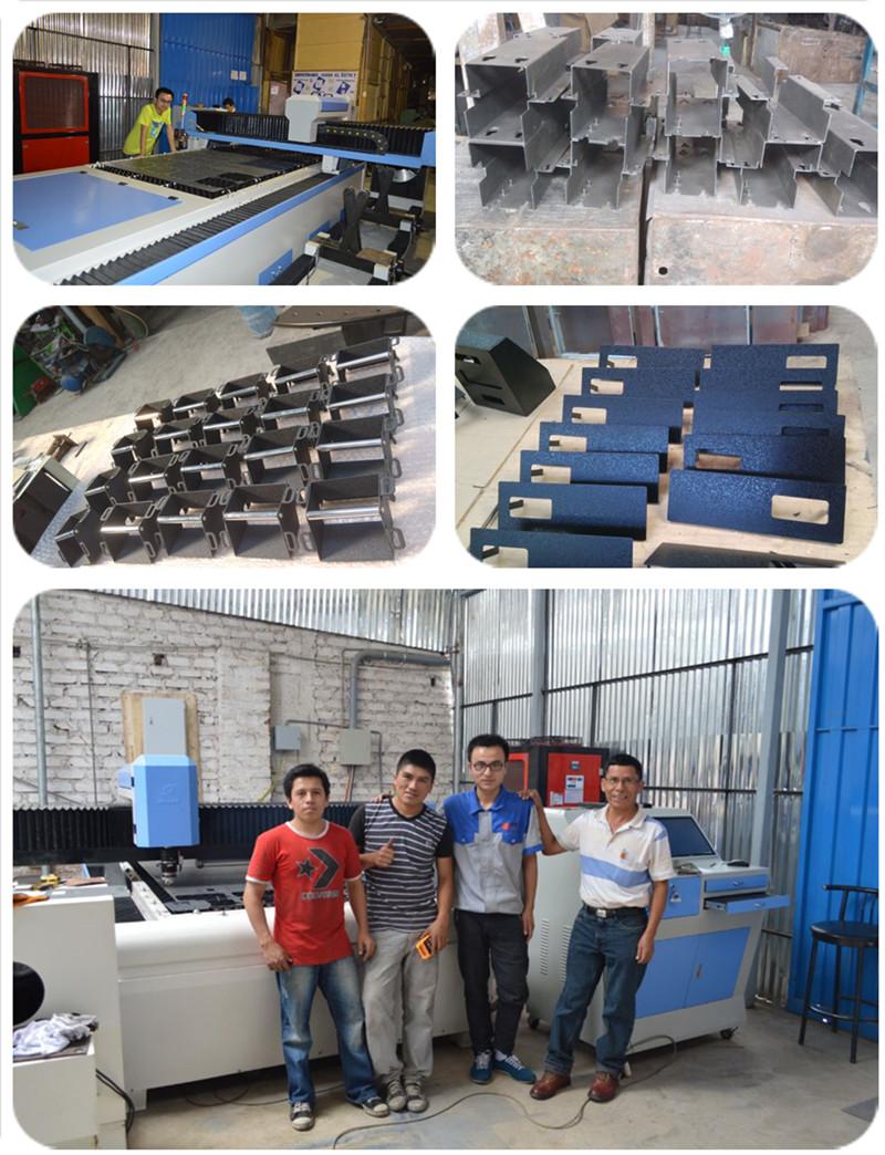 Peru - 500W JQ laser machine training and working