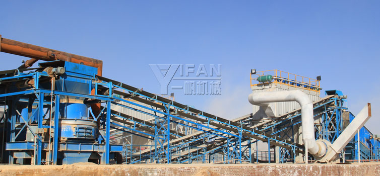 250t/h fixed sandstone sand making production line in Shanxi