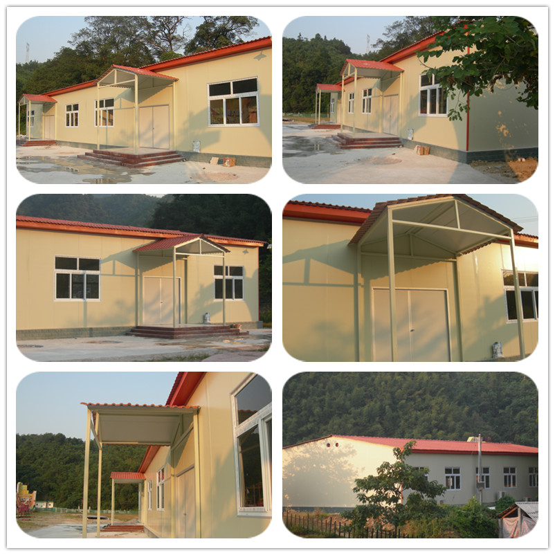 Slop roof steel frame prefabricated house