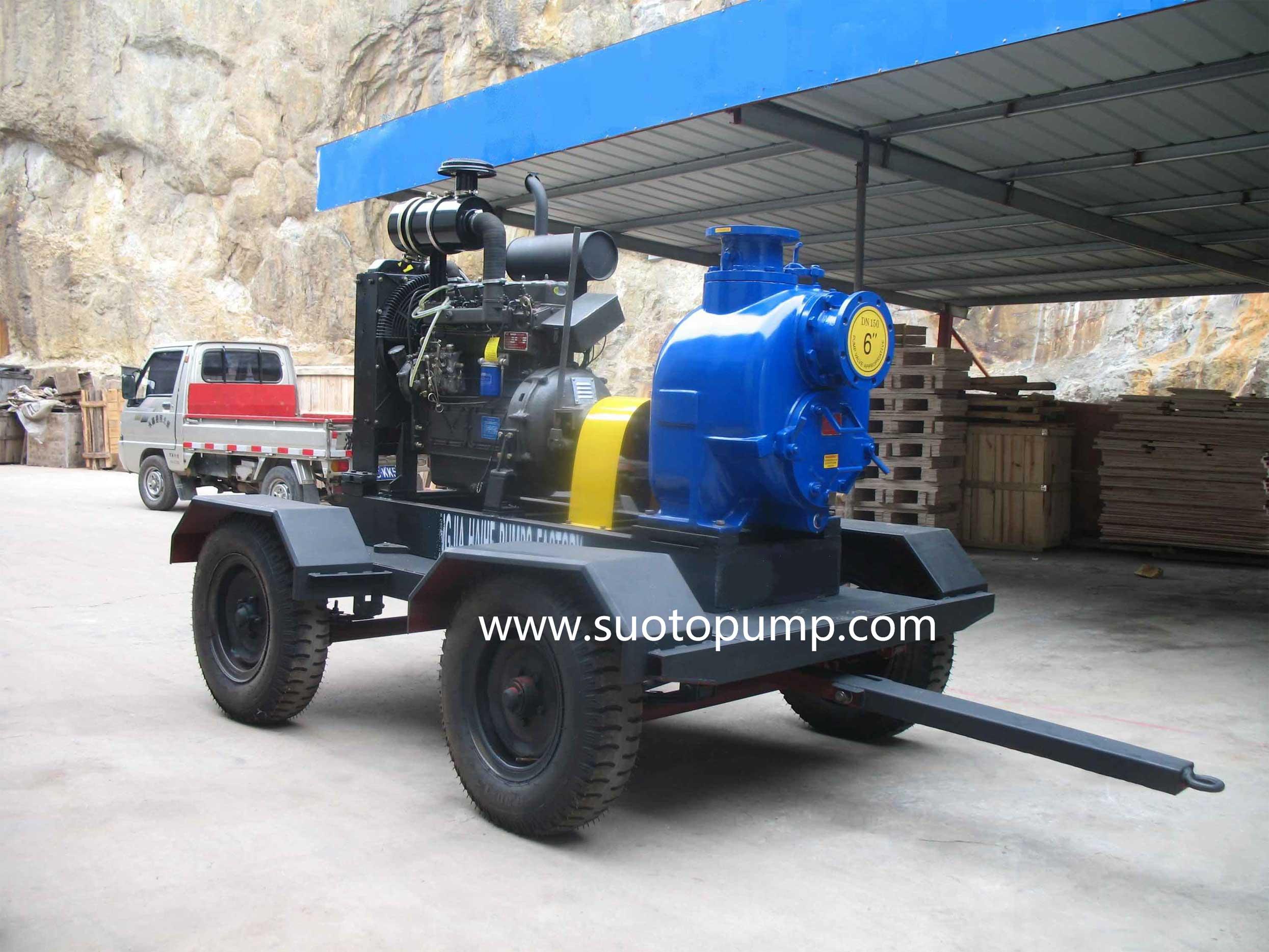 T Series Diesel Engine Self-priming Sewage Pump