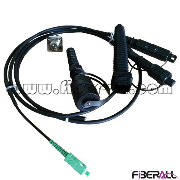 CPRI waterproof fiber optic jumper for BBU/RRU with ODVA, PDLC and ODC plug