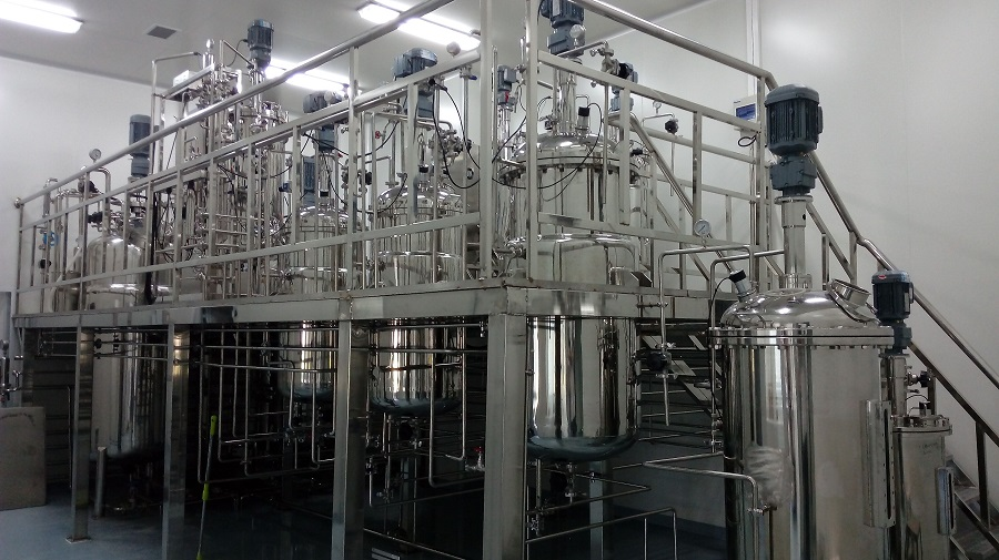 1000L 500L 200L stainless steel fermenters in CHINA Academy of Agricultural Sciences