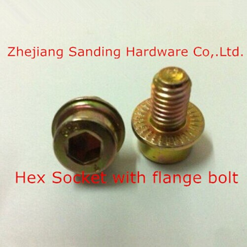 Hex flange socket bolt