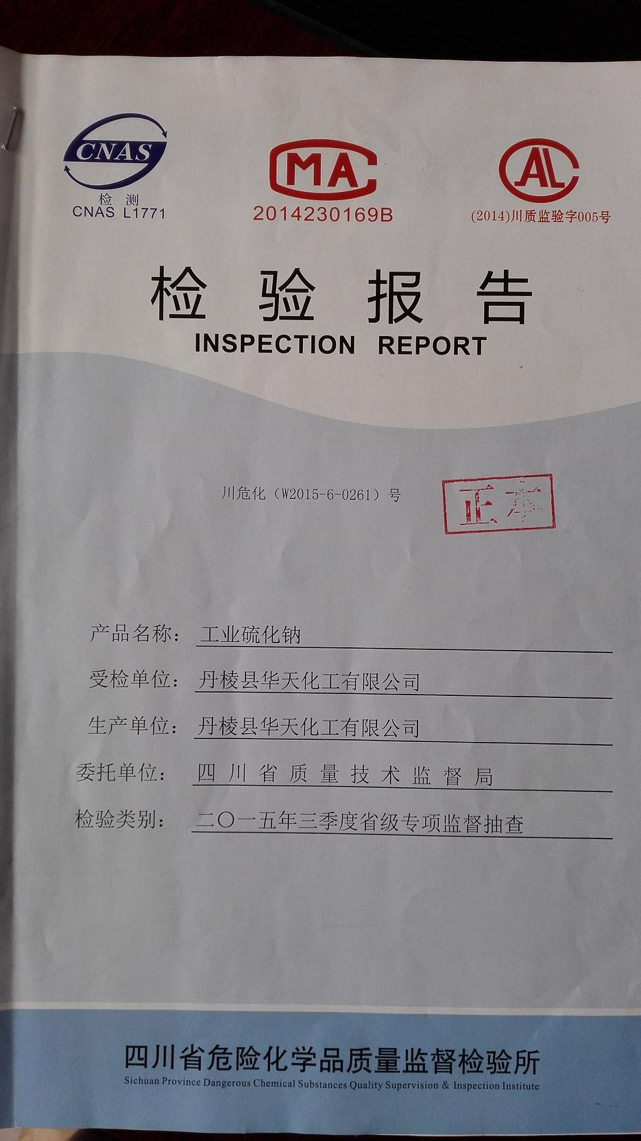 government test report