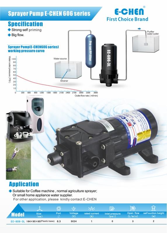 EC-606 Series liquid transfer pump