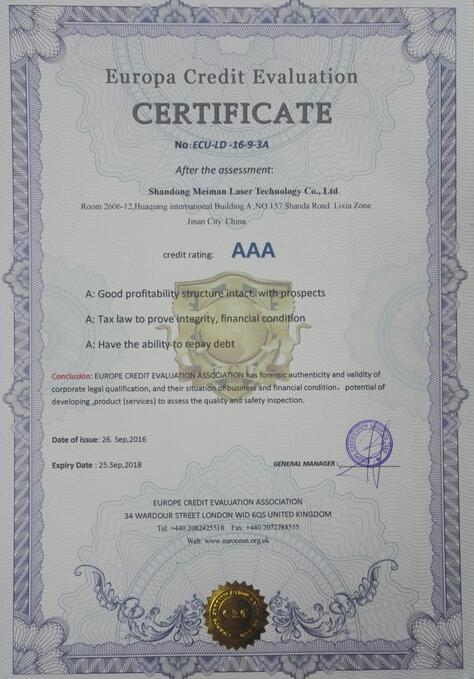 europa credit evaluation certificate