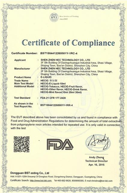 FDA Certificated