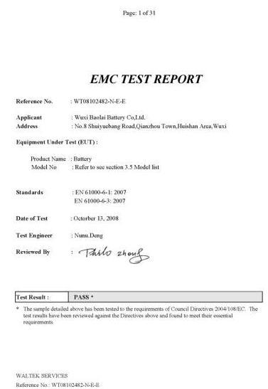EMC Test Report