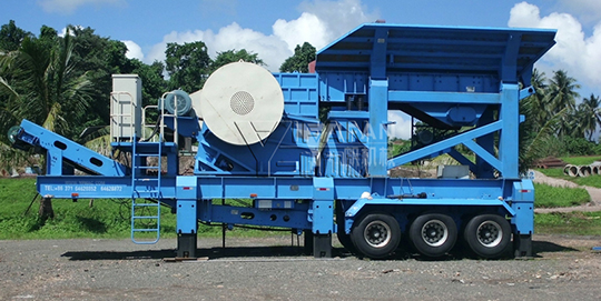 200t/h mobile basalt crushing and screening production line in Indonesia
