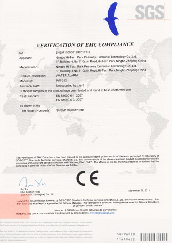 Water leak detector CE