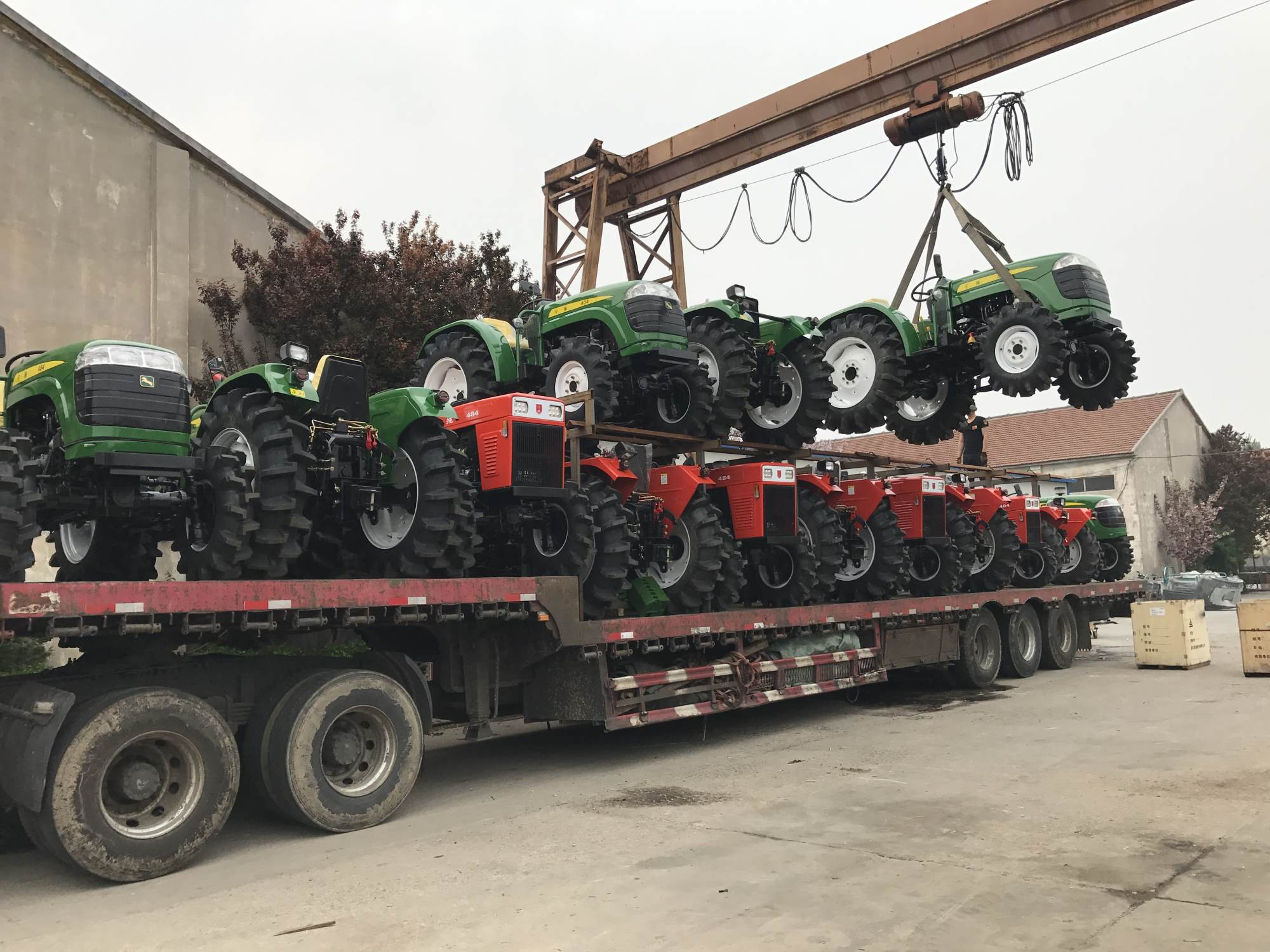 Medium horsepower tractor delivery