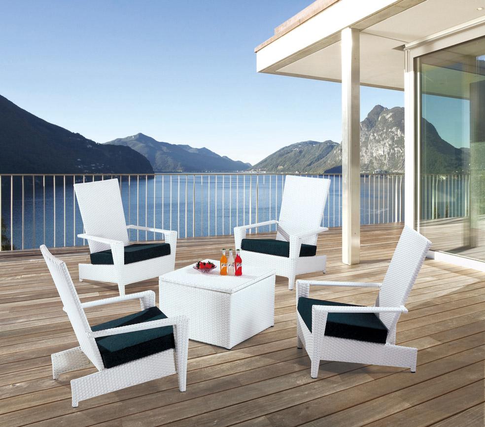 Garden Patio Wicker / Rattan Sofa Set - Outdoor Furniture (LN-6003)