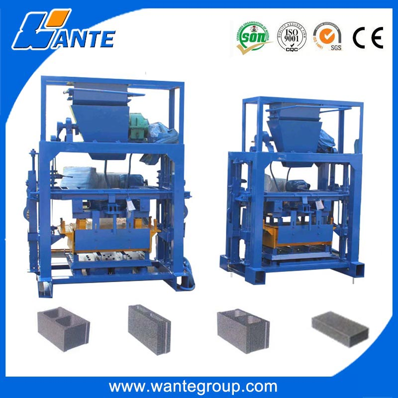 QT40-1 semi automatic concrete block making machine