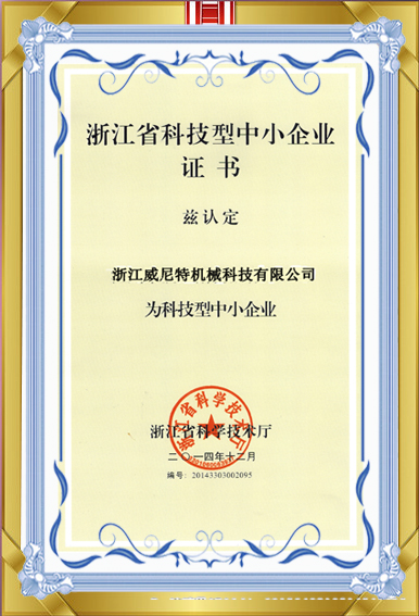 High and New Technological Certificate