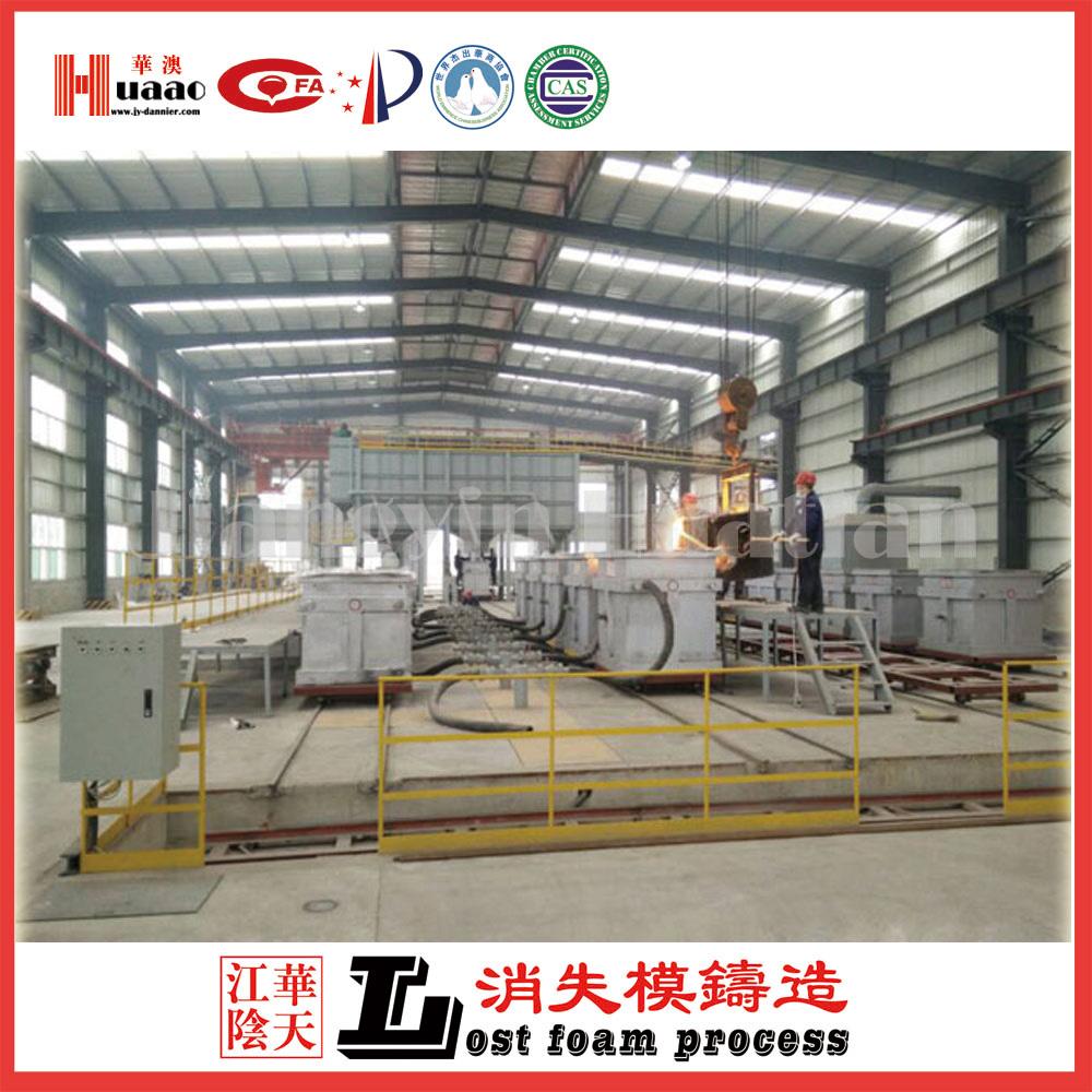Zte group lost foam casting production line