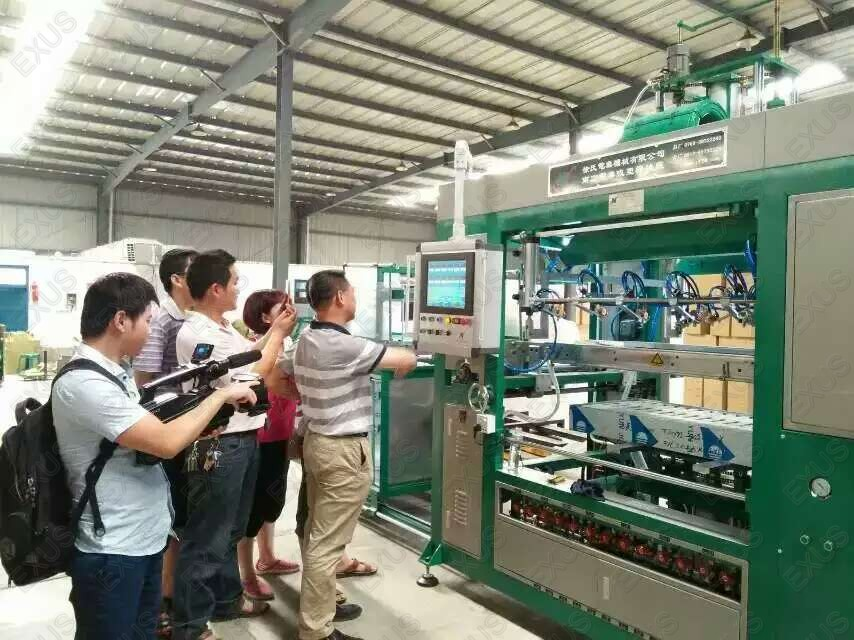 Blister forming machine operation show