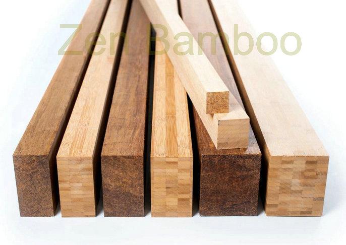 Solid bamboo beams
