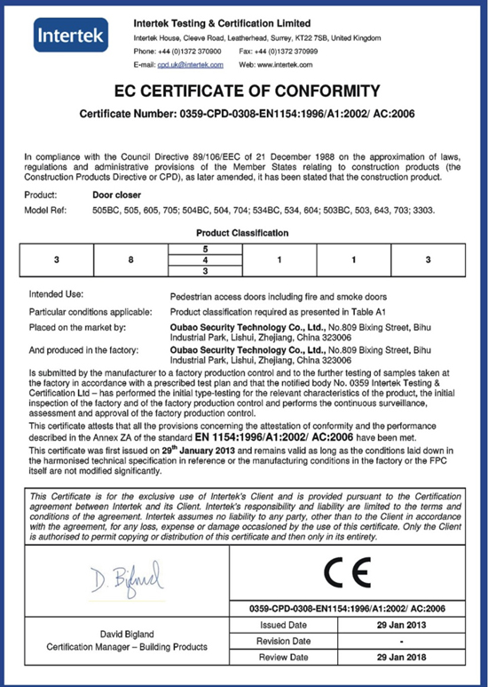 CE Certification for 505BC, 3303,503 504 505 604 Etc Total 15 Types