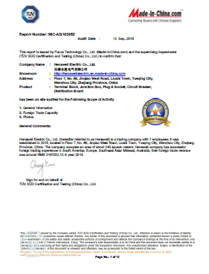 TUV Audit Approval