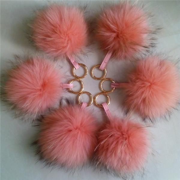 Real Fur Pom Keychain