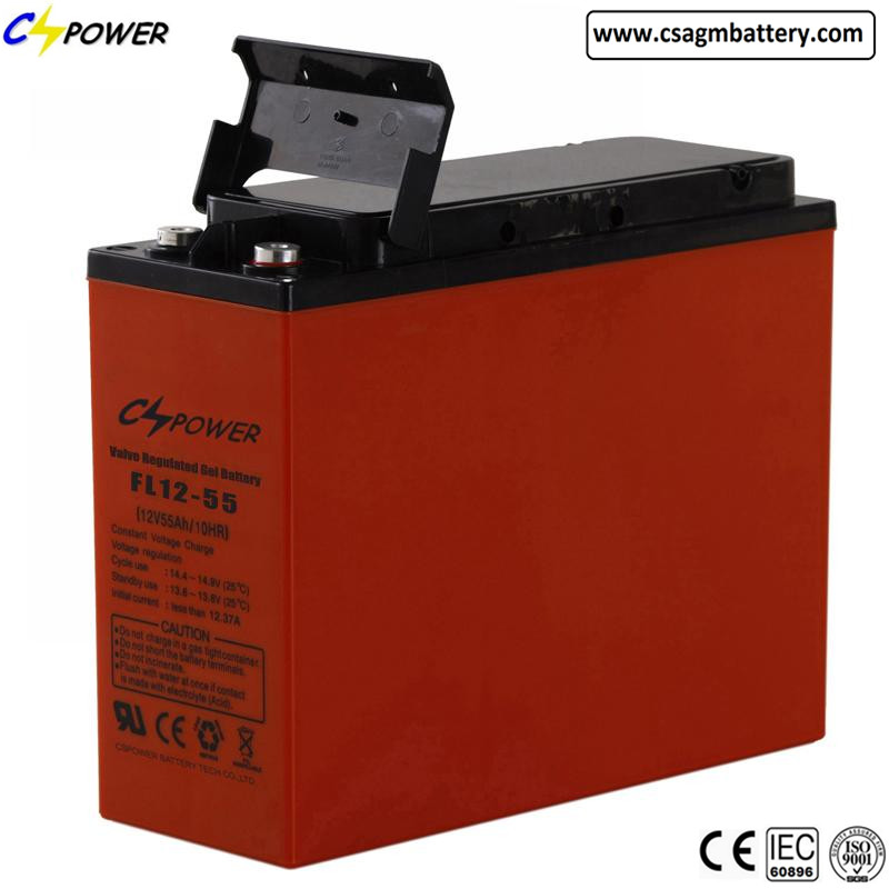 Front Terminal Access Battery save space for telecom, ups and solar
