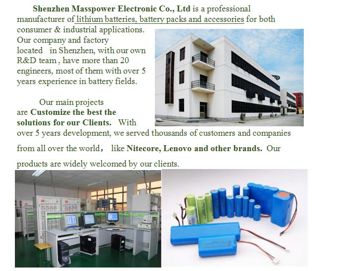 ODM/OEM manufacturer of lithium battery pack