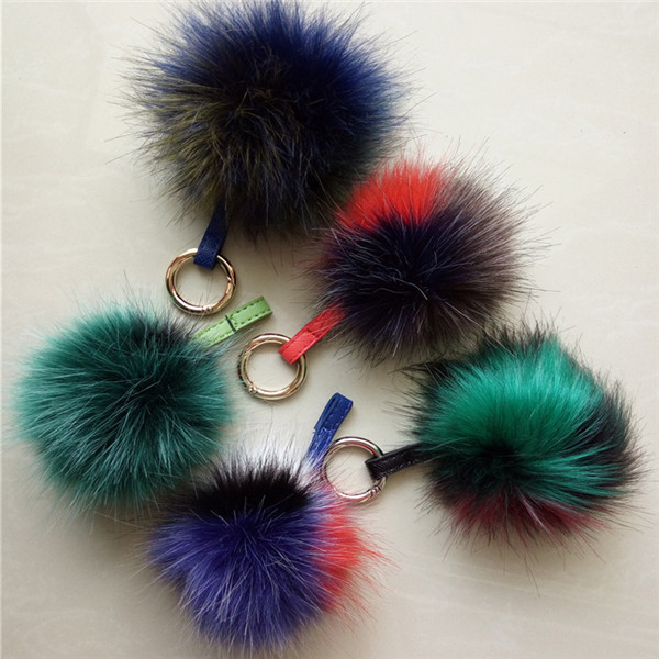 Faux Mix Colors Fur Ball