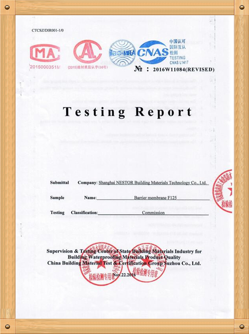 TESTING REPORT F-125