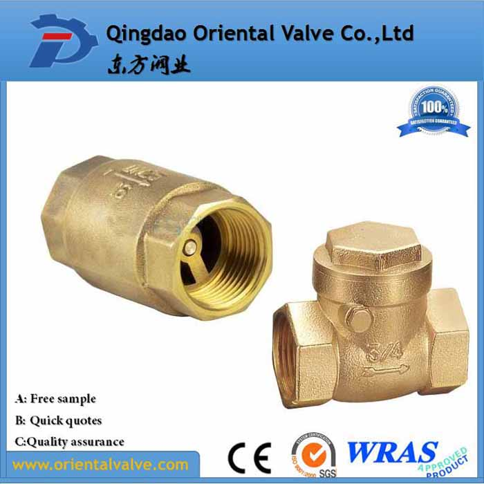 water gas oil vertical brass swing check valve