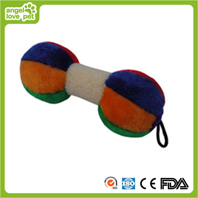 Pet Dog Plush Colorful Dumbbells Toy