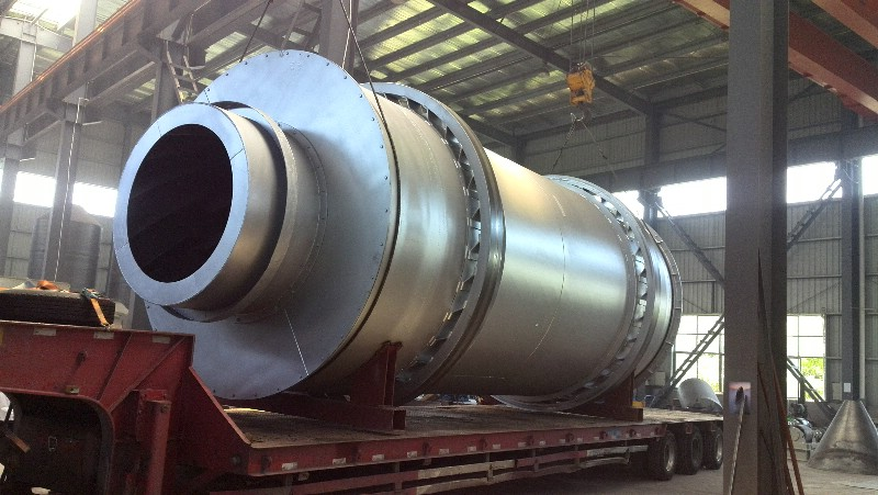 60T/hour slag dryer delivery