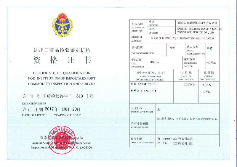 AQISQ Certificate