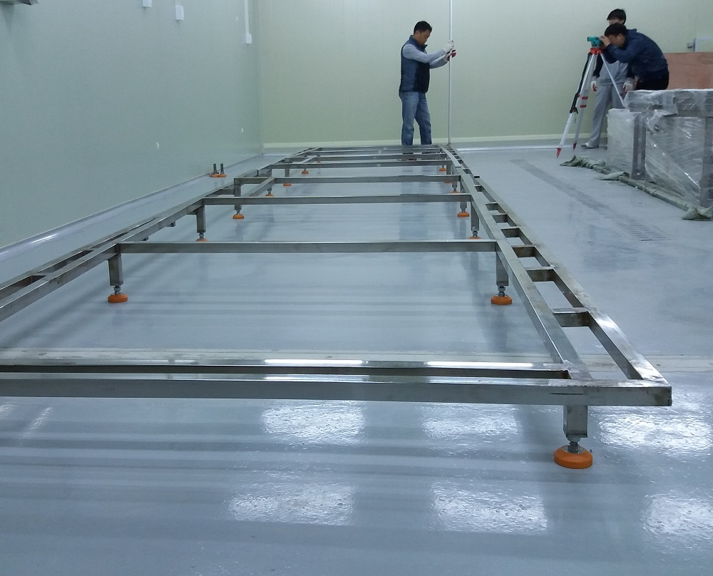 Tunnel quick-freezing machine installation