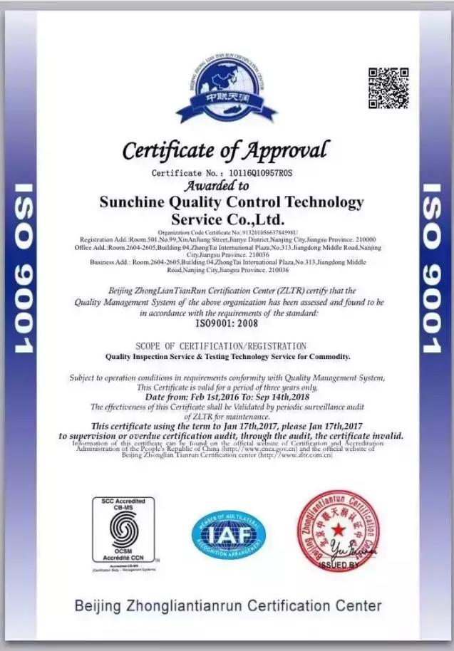 ISI9001-2008 Certificatie