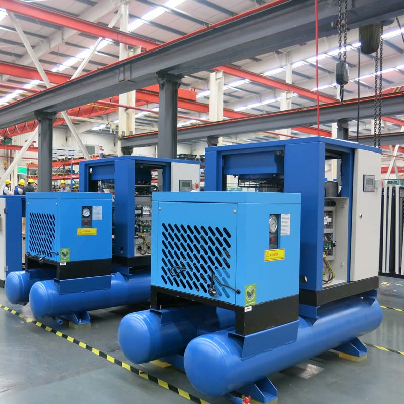 Combined screw air compressor production assembly line