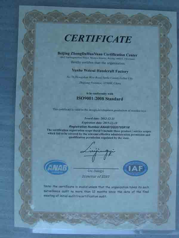 CE certificate of wooden toy